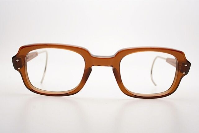 Eyeglass Frames For Military : Vintage US ARMY eyeglasses Mod. ROMCO ROCKING in Brown 52 ...