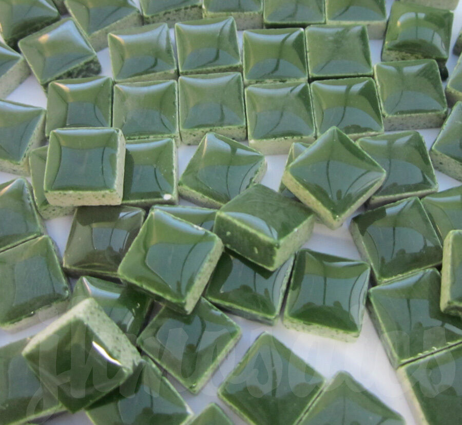 100pcs 110grams Micro Ceramic Mosaic Tiles Dark Green Gd1 Ebay