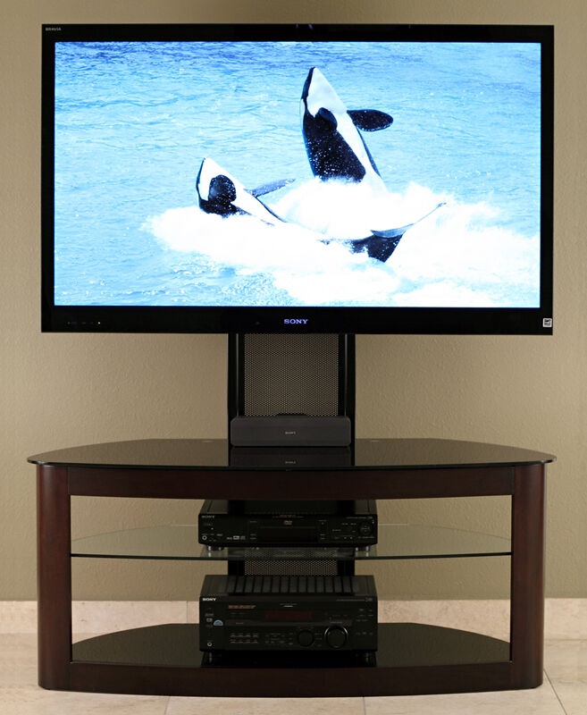 transdeco lcd tv stand w mount 40 42 46 48 50 55 60 65 inch lcd led tv td600es ebay. Black Bedroom Furniture Sets. Home Design Ideas