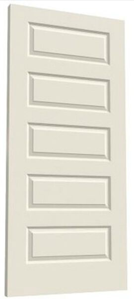 Rockport 5 panel primed smooth molded solid core wood composite interior doors ebay for Solid wood panel interior doors