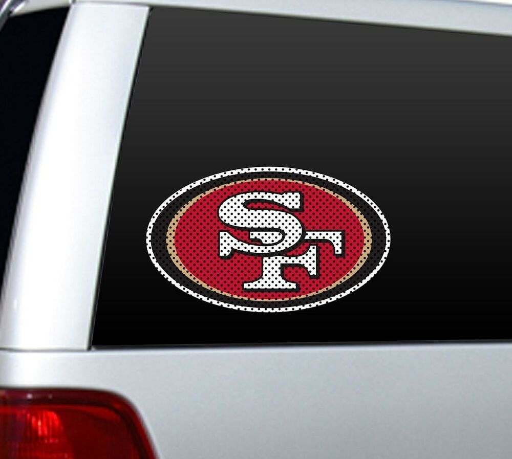 Big 12 Quot San Francisco 49ers Car Home Perforated Window