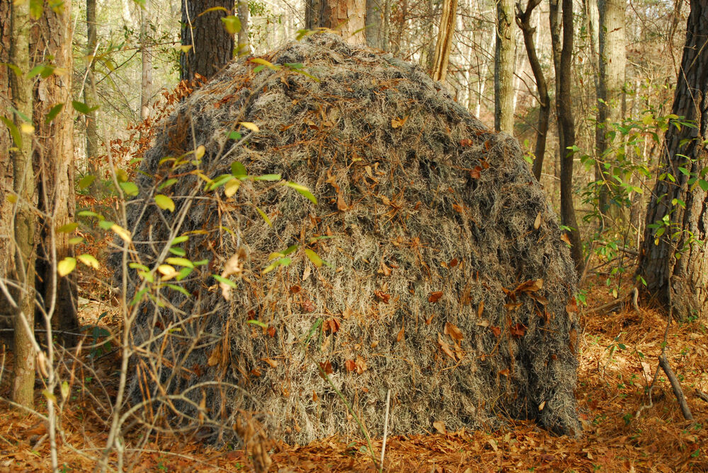 Ghillie Cover For A Ground Blind Double Bull 4 Wheeler