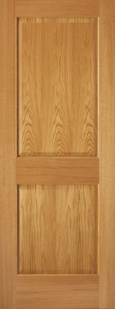 2 panel traditional premium red oak stain grade solid core interior wood doors ebay for Solid wood panel interior doors