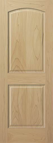 2 panel arch top poplar raised stain grade solid core wood doors interior door ebay for 2 panel arch top interior doors