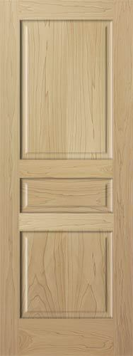 3 panel raised solid clear poplar staingrade solid core wood doors interior door ebay