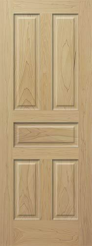 5 Raised Panels Tulip Poplar Stain Grade Solid Core Doors