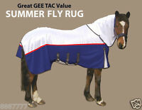 GEE TAC NEW HORSE  NO JOIN FLY RUG COMBO UV.SWEETITCH RATED LINED MASK ALL SIZES