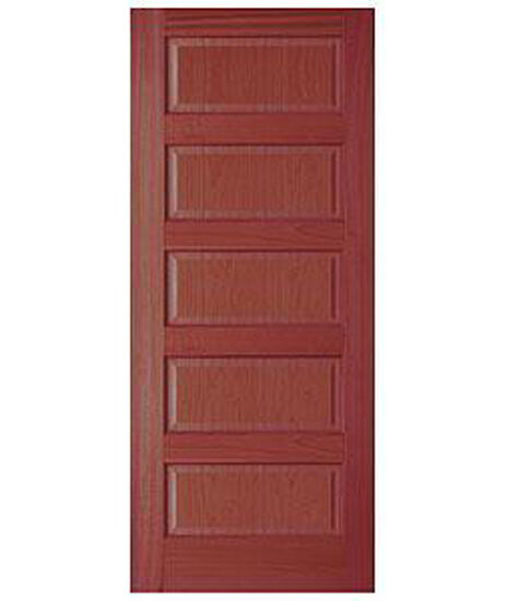 5 panel equal raised panels cherry stain grade solid core interior wood doors ebay for Solid wood panel interior doors
