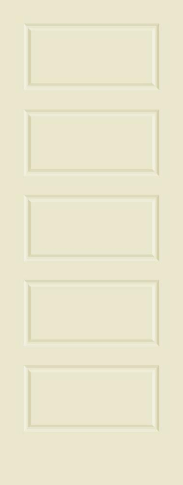 5 panel raised equal panels primed smooth stile rail solid wood interior doors ebay for Solid wood panel interior doors