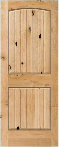 2 panel arch top knotty alder raised v groove solid core interior wood doors 6 39 8 ebay for 2 panel arch top interior doors