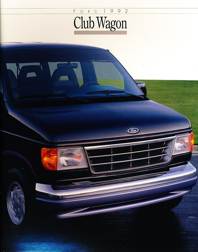 1992 Ford Club Wagon Van Original Sales Brochure