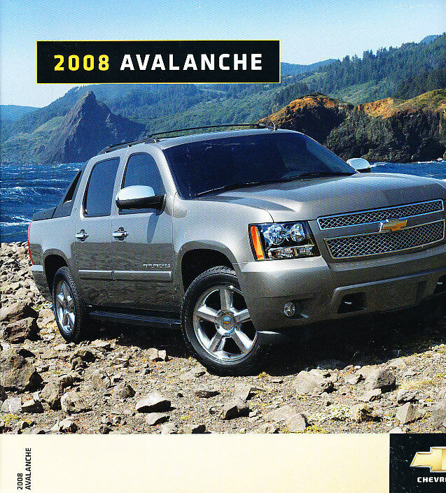 2008 chevrolet chevy avalanche canada sales brochure. Black Bedroom Furniture Sets. Home Design Ideas