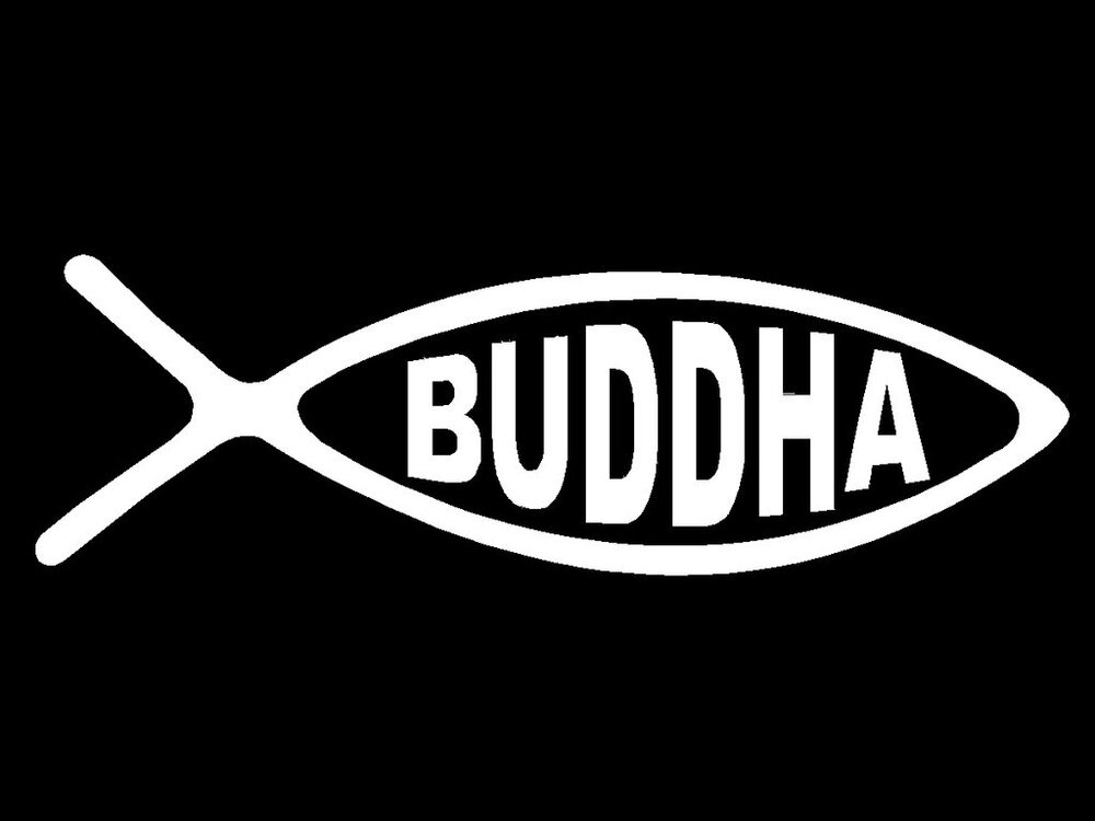 Buddha fish decal symbol religious faith car window vinyl for Fish symbol on cars