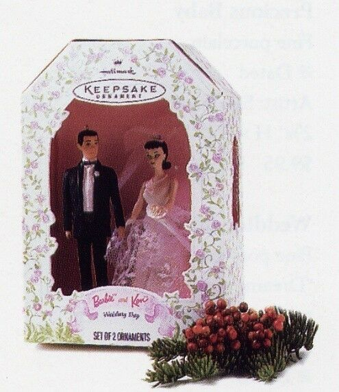 hallmark barbie ken wedding day bride groom ornaments or
