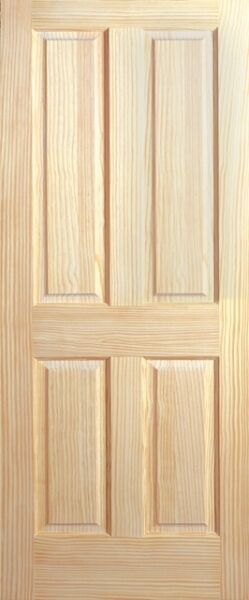 4 Panel Raised Panels Clear Pine Stain Grade Solid Core