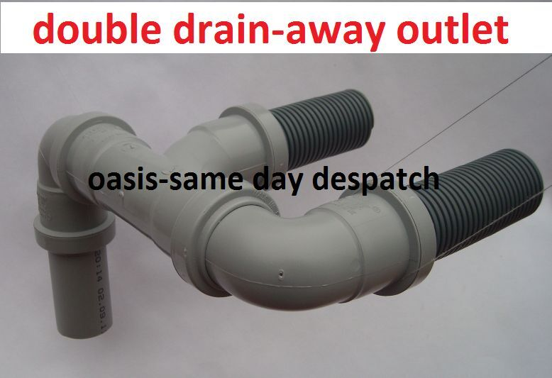 Double Waste Easy Drain Away Water Outlet Hose Pipe To