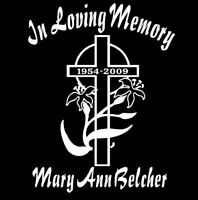 In Loving Memory Car Decal cross Easter lily custom sticker personalize graphic