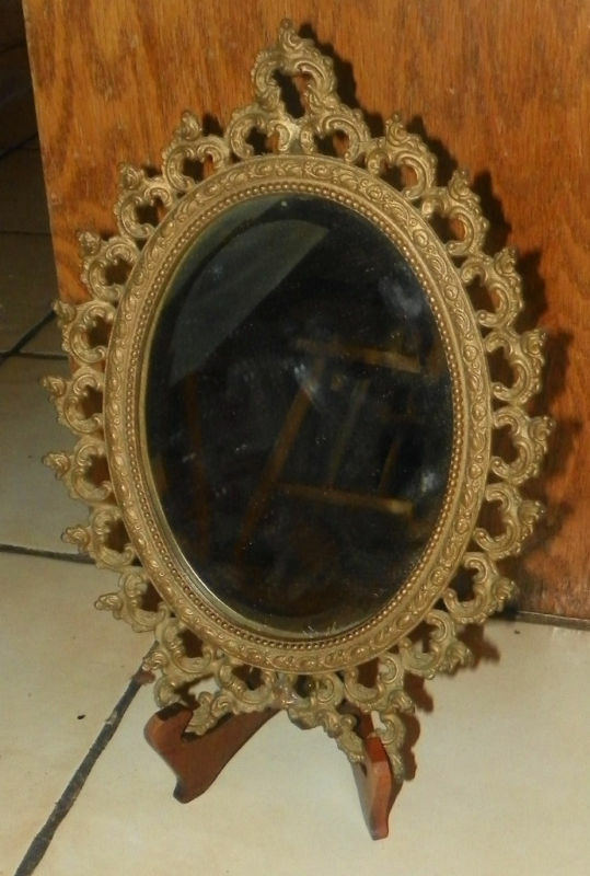 Small brass decorative mirror ebay for Small decorative mirrors