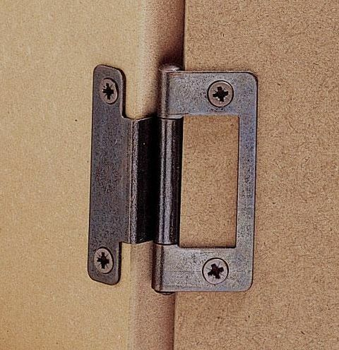 Cranked Hinge Bronze 50mm Cupboard Wardrobe Caravan For 15