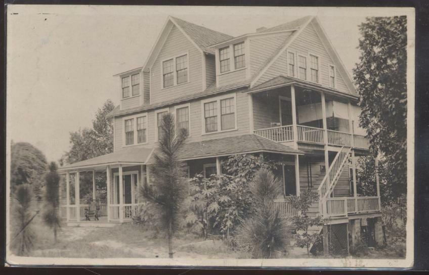 Real photo postcard southern large 3 story victorian house for 3 story victorian house