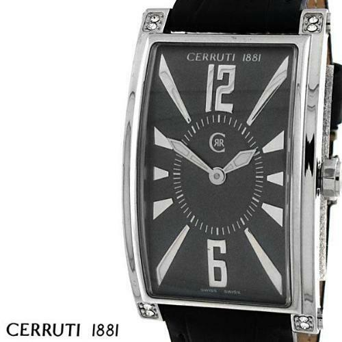 eac9d6814b Details about CERRUTI LADIES GENOVA DONNA SWISS STAINLESS WATCH NEW GREY  BLACK CT66342X103052