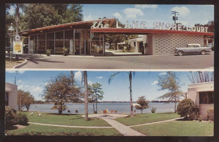 Postcard Winter Park Florida Fl Lakeshore Motor Court Dual