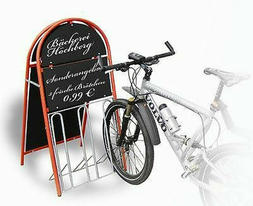 werbe fahrradst nder kundenstopper werbetafel in. Black Bedroom Furniture Sets. Home Design Ideas