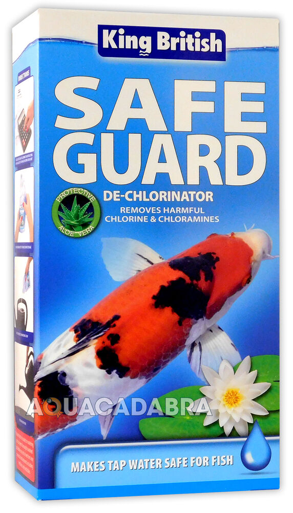 King british safe guard 500ml tap water fish pond for How to make tap water safe for fish