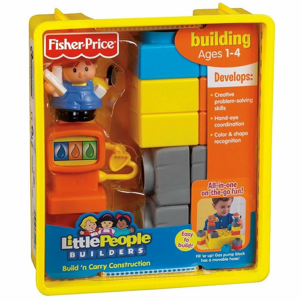 Fisher price little people builders build n carry for Price builders