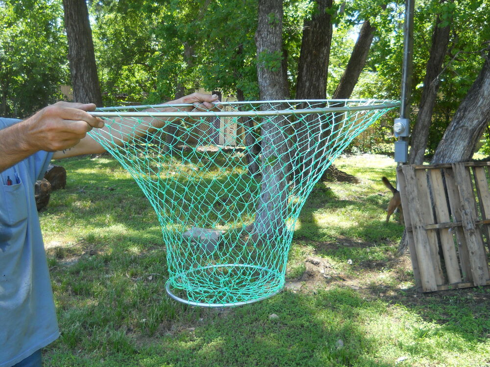 3 large 32 crab trap hoop lobster pier dock net crabbing for Hoop net fishing