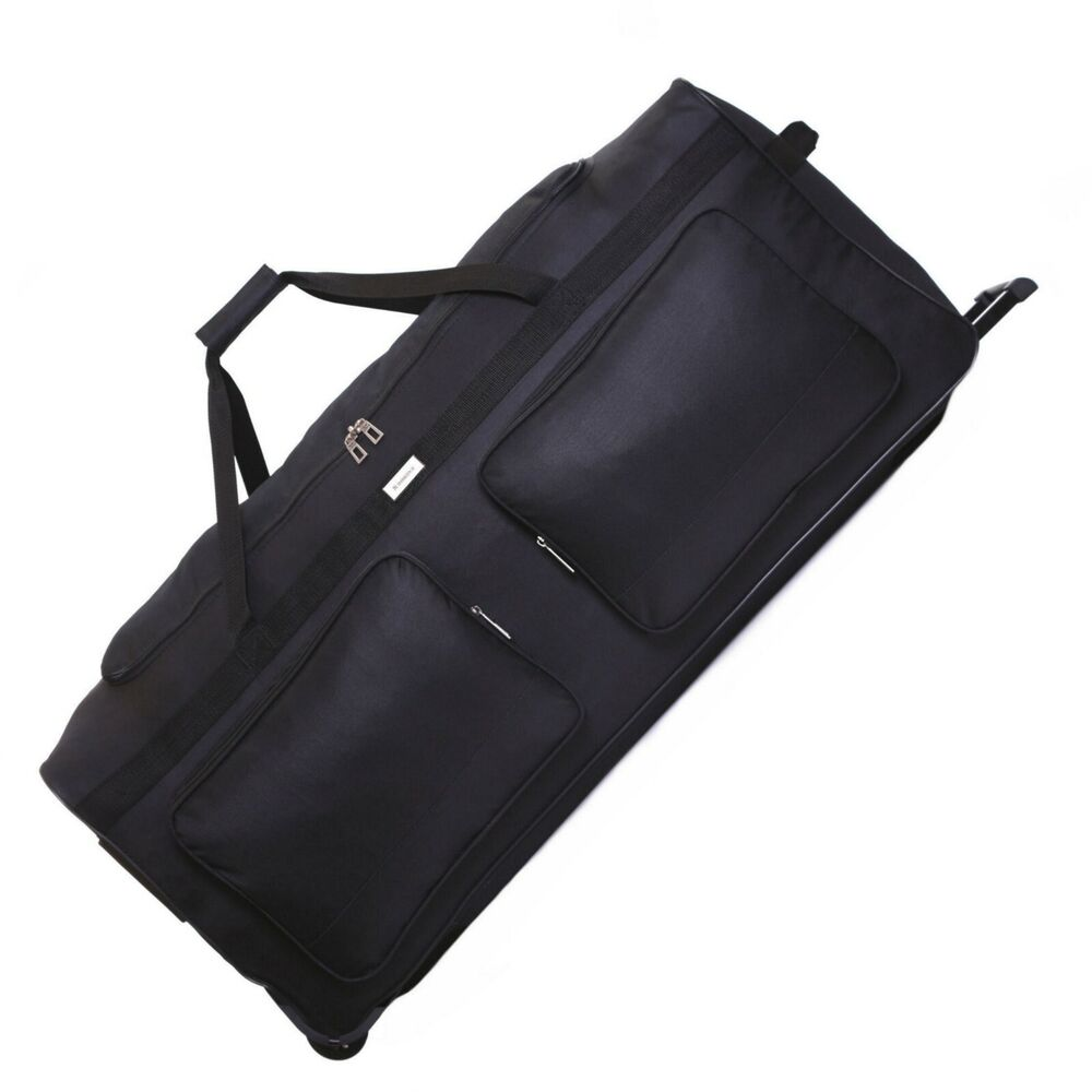 xl extra large 40 inch wheeled travel trolley luggage suitcase holdall case bag ebay. Black Bedroom Furniture Sets. Home Design Ideas