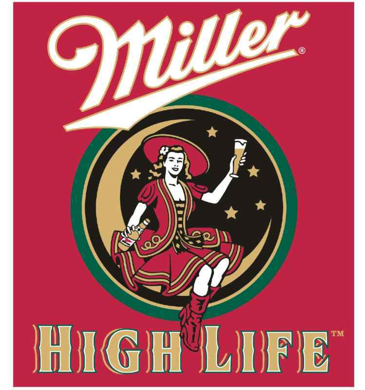 miller high life vinyl sticker decal 6 full color ebay. Black Bedroom Furniture Sets. Home Design Ideas