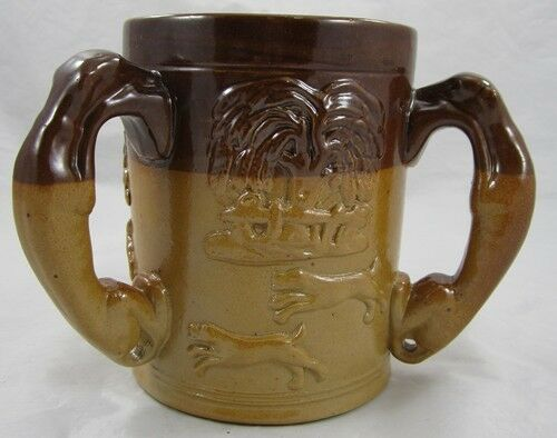 Ceramic Passcup 3 Three Handle Handled Stein Tyges Loving