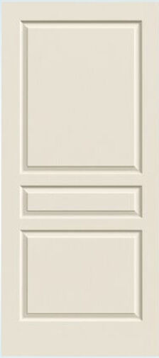 Avalon 3 Panel Primed Molded Solid Core Interior Doors Woodgrain Texture Prehung Ebay