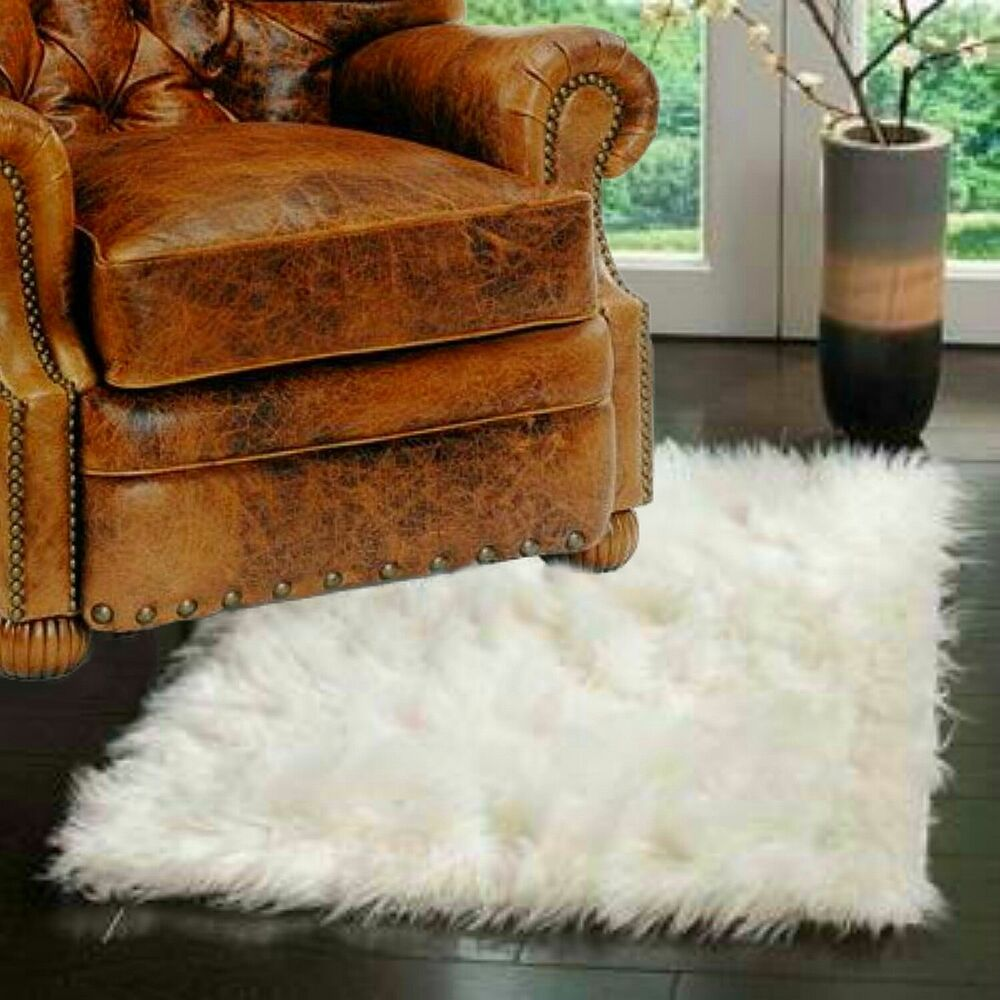Fur Accents Accent Rug