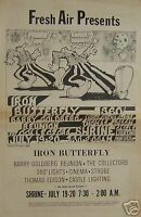 Iron Butterfly rare 1968 Shrine Concert Poster Type Ad