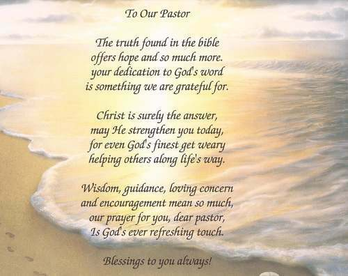 To Our Pastor, Rev, Minister Personalized Poem ...
