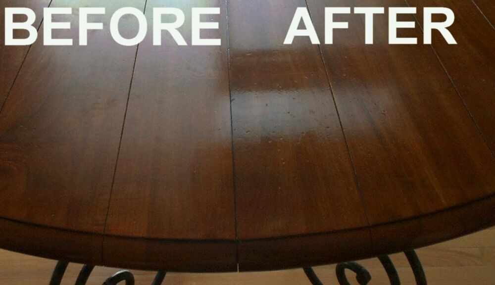 how to get scratches out of wood table