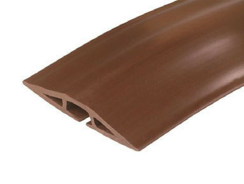 corduct on floor cord protector 5 39 coil brown ebay. Black Bedroom Furniture Sets. Home Design Ideas