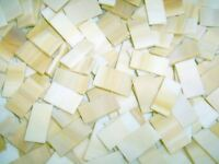 "50 1"" Tan Streaks Border Stained Glass Mosaic Tiles"