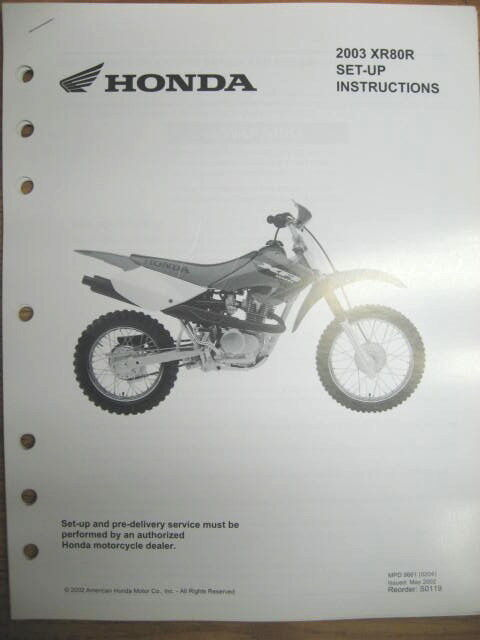 2003 honda atv wiring diagram 2003 honda xr80 wiring diagram 2003 honda xr80r set up instructions wiring diagram ebay