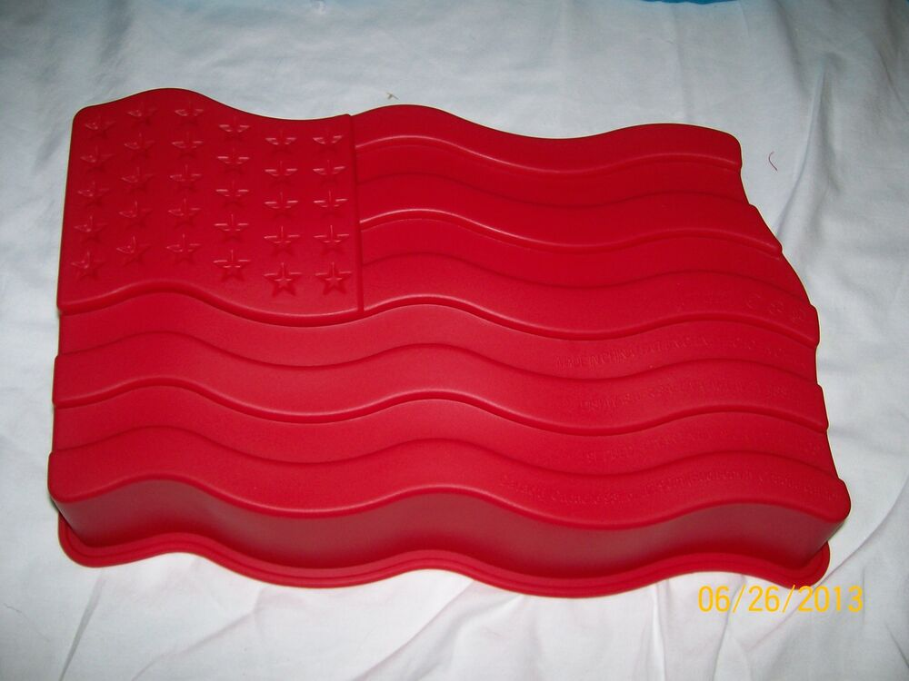 Star Spangled American Flag Cake Mold Red Silicone