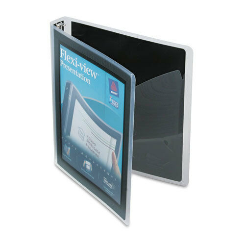 Avery Flexi-View Round-Ring Presentation 3-Ring Binder, 1