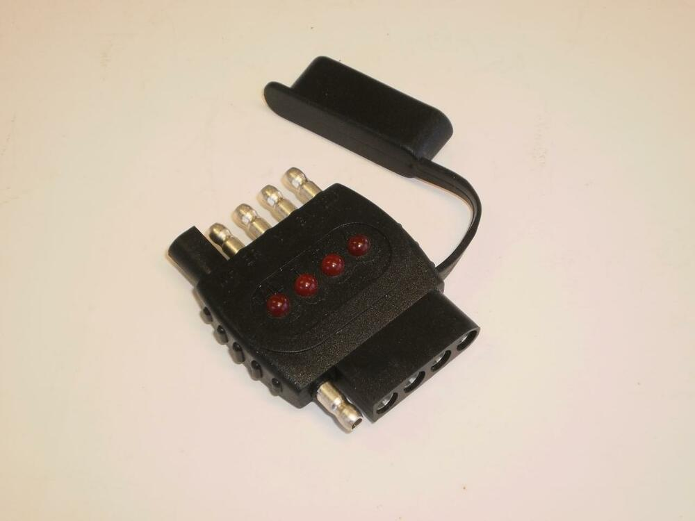 truck trailer light tester 4 flat and 5 flat in line plug  wiring a 7 wire trailer plug