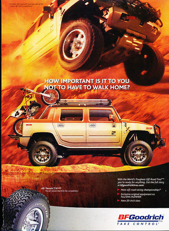Buy 3 Get 1 Free Tires >> 2005 BF Goodrich All-Terrain Tires - Classic Vintage Advertisement Ad D25 | eBay