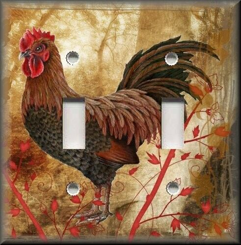 Http Www Ebay Com Itm Light Switch Plate Cover Country Rooster Kitchen Decor Home Decor 370621316303
