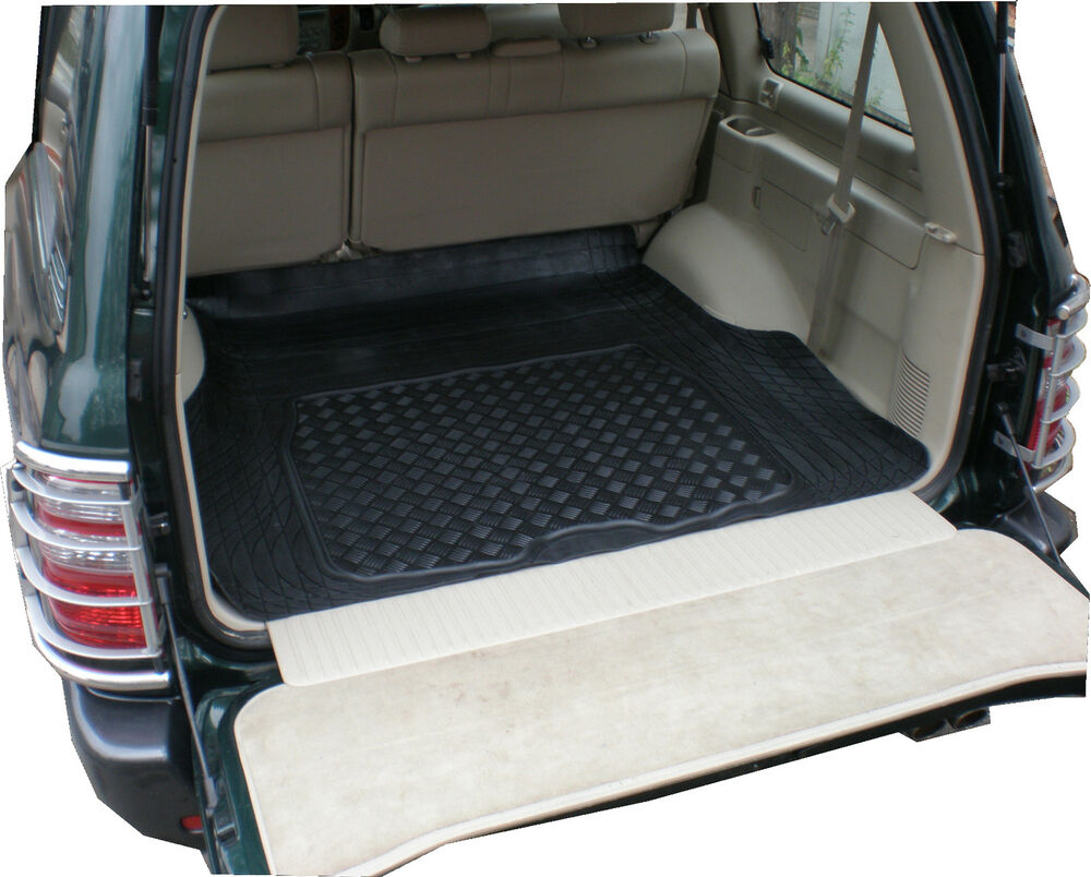 Toyota Landcruiser 300 >> Toyota 100 Land Cruiser Amazon 98-07 natural rubber boot liner dog load mat 9805120483686 | eBay