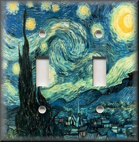 Light Switch Plate Cover - Van Gogh - Starry Night - Home Decor - Art Decor eBay