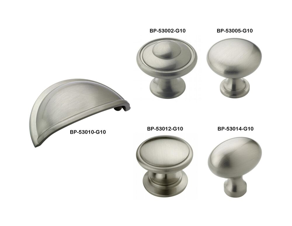 Amerock Satin Nickel Drawer Cabinet Hardware Knobs & Bin Pulls | eBay