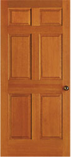 6 panel raised clear stain grade hemlock solid core interior wood doors door ebay 6 panel hardwood interior doors